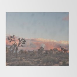 Joshua Tree Sunset No.2 Throw Blanket