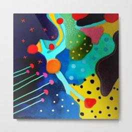 Abstract Art - Lagoon mushrooms rupydetequila amazonia dots cheetah Metal Print