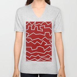 Irregular Pattern Art Print Unisex V-Neck