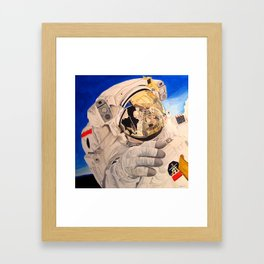 Astronaut in space, man. Framed Art Print