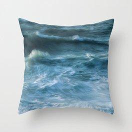 Stormy Seas Throw Pillow