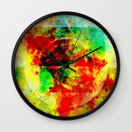 Subtle Form - Abstract colour painting Wall Clock