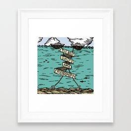 The Best Ships are Friendships Framed Art Print