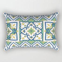 Italian Tile Pattern – Sicilian ceramic from Caltagirone Rectangular Pillow
