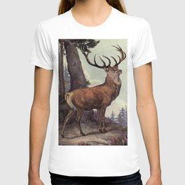 Vintage Red Deer Painting (1909) T-shirt