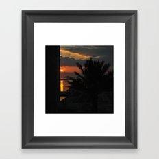 And Watch the Sun Go Down Framed Art Print