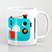 sewing Mugs featuring Sewing Kit by koivo