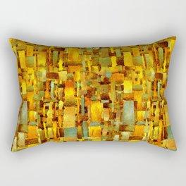 Gold and bronze Rectangular Pillow