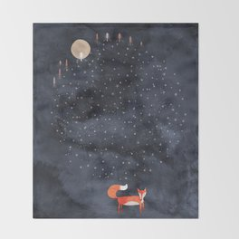 Fox Dream Throw Blanket
