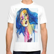 blue haired girl Mens Fitted Tee White MEDIUM