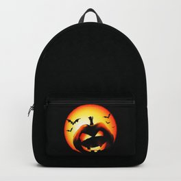 Smile Of Scary Pumpkin Backpack
