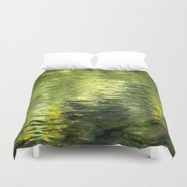 Green Water Abstract Art Duvet Cover