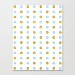 Dalmatian - Blue & Gold Foil #447 Canvas Print