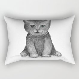 Little Black Kitten Rectangular Pillow