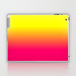 Neon Pink and Neon Yellow Ombré Shade Color Fade Laptop & iPad Skin