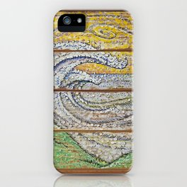 Waves on Grain iPhone Case