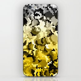 Golden crystals iPhone Skin