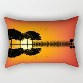 guitar island sunset ill Rectangular Pillow