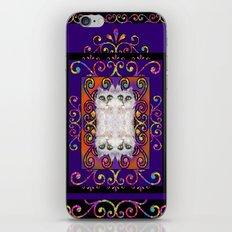 CAT ARABESQUE GYPSY PURPLE BLUE iPhone & iPod Skin