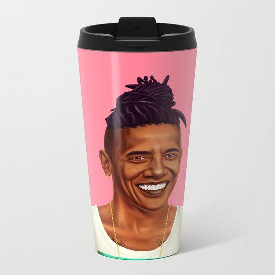 Hipstory - Barack Obama Metal Travel Mug