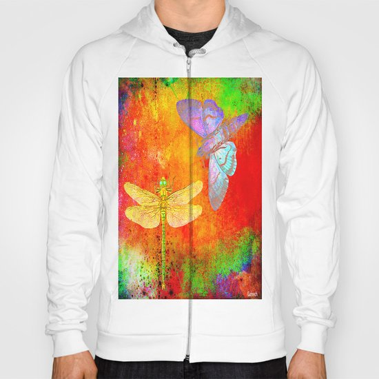 The Dragonfly and the Butterfly Hoody