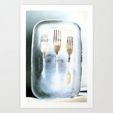 Frozen Forks Art Print