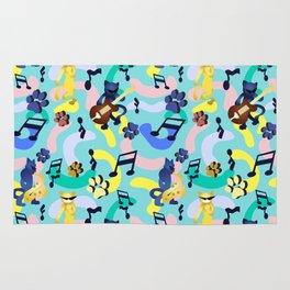 Nineties Jazz Cats Pattern Rug