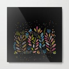 Embroidered foliage Metal Print