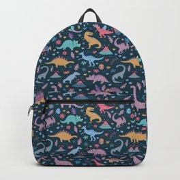Dinosaur + Flowers Pattern Backpack