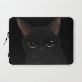 Black cat in black Laptop Sleeve