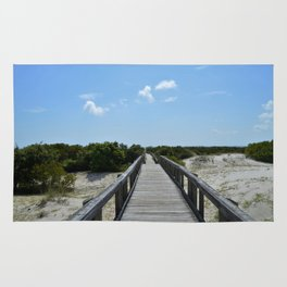 Blue Skies and Boardwalks Rug