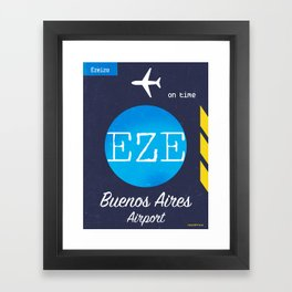 EZE Buenos Aires airport Framed Art Print