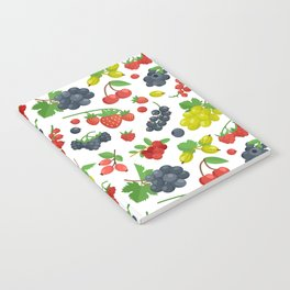 Colorful Berries Pattern Notebook