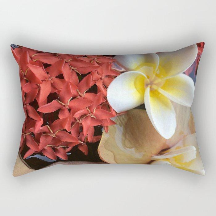 Frangipani & Ixora Rectangular Pillow