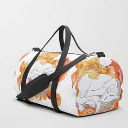 Cat and Golden Fishes Duffle Bag
