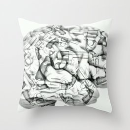 Human Brain weapon orig Throw Pillow