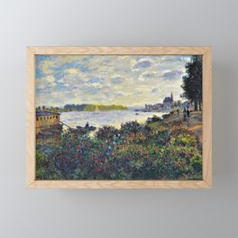 Red Poppies on the banks of the Seine at Argenteuil by Claude Monet Framed Mini Art Print