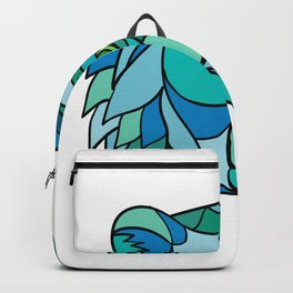 Grizzly Bear Head Mosaic Backpack