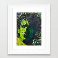 senna Framed Art Prints featuring Senna by Matt Pecson