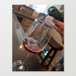 Wine tasting Canvas Print