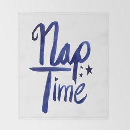 Nap Time | Lazy Sleep Typography Throw Blanket