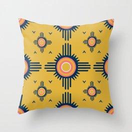Zuni Sun Goldenrod Throw Pillow