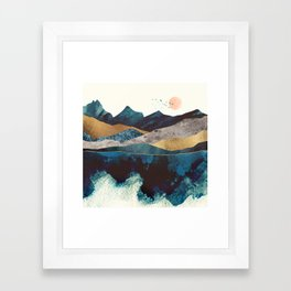 Blue Mountain Reflection Framed Art Print