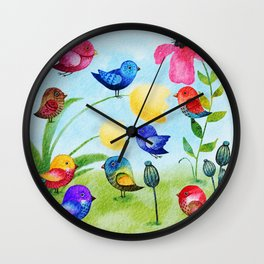 Garden Party Wall Clock