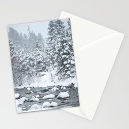 Snowy Mountain River Stationery Cards