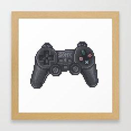retro ps controller Framed Art Print