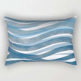 Ocean's Skin Rectangular Pillow