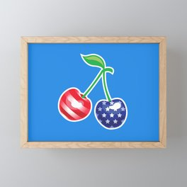 Stars and Stripes Cherries Framed Mini Art Print