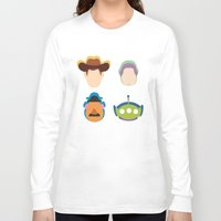 toy story Long Sleeve T-shirts featuring Toy Story by Raquel Segal