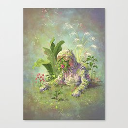 Planted Astronaut Canvas Print